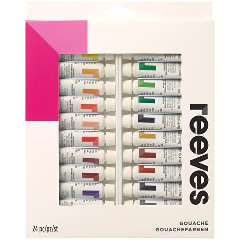 Reeves Gouache 10ml Assorted Colours Set of 24